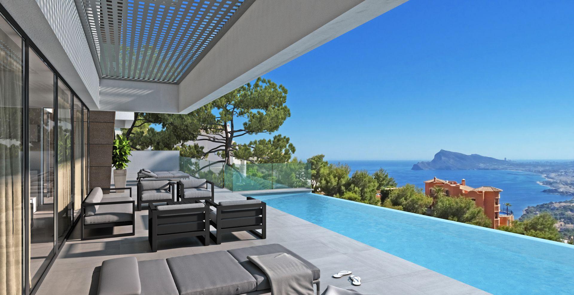Altea Hills: Moderne Designer Villa in Konstruktion