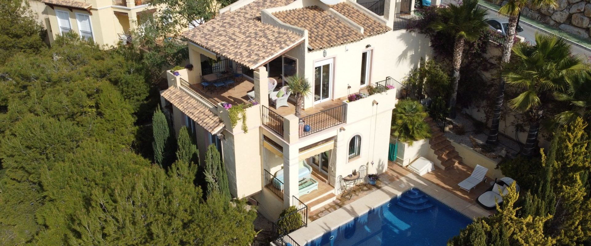 Villa mit Meerblick und Pool in Altea Hills