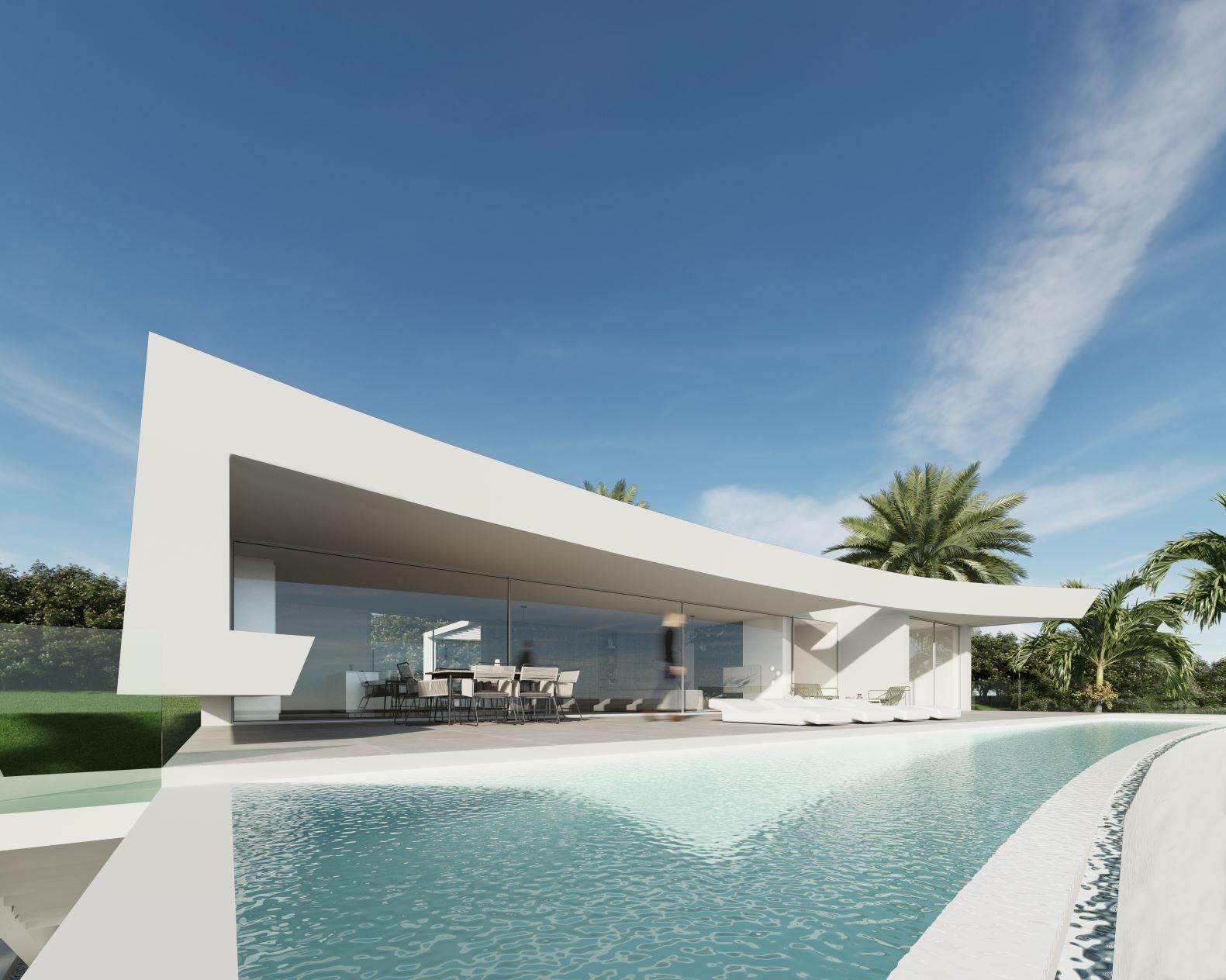 Sectacular modern villa with seaviews